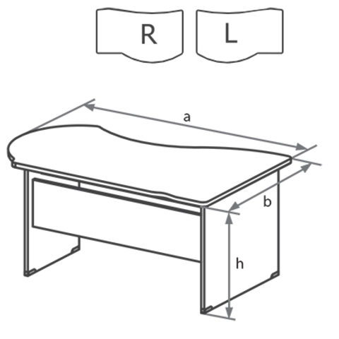 Стол письменный угловой на ДСП каркасе с высокой передней панелью БОСТОН