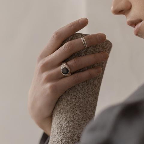 Кольцо IJEN с чёрным ониксом