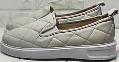 Осенние слипоны туфли на низком ходу Alpino 21YA-Y2859 Cream.