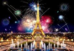 Ночной Париж от Wooden City - Позитивные и яркие деревянные пазлы с деталями разных формы. Прекрасное фото Парижа, которую вы собираете сами