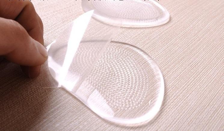 Массажные силиконовые полустельки под стопу на клеящейся основе, 1 пара