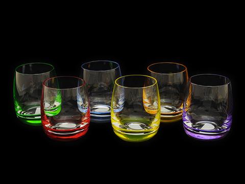 Набор стопок с цветным дном «Rainbow»