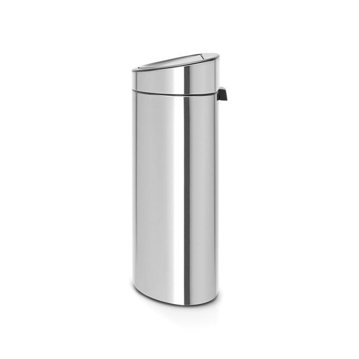 Мусорный бак Touch Bin New (40 л), Стальной матовый с защитой от отпечатков пальцев, арт. 114809 - фото 1