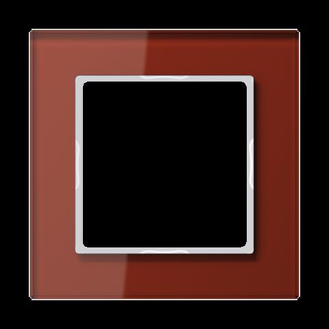 Рамка на 1 пост. Цвет Красный глянцевый. JUNG A CREATION. AC581GLRT