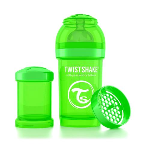 Twistshake бутылочка антиколиковая 180 мл. Зелёная (Sugarpuss)