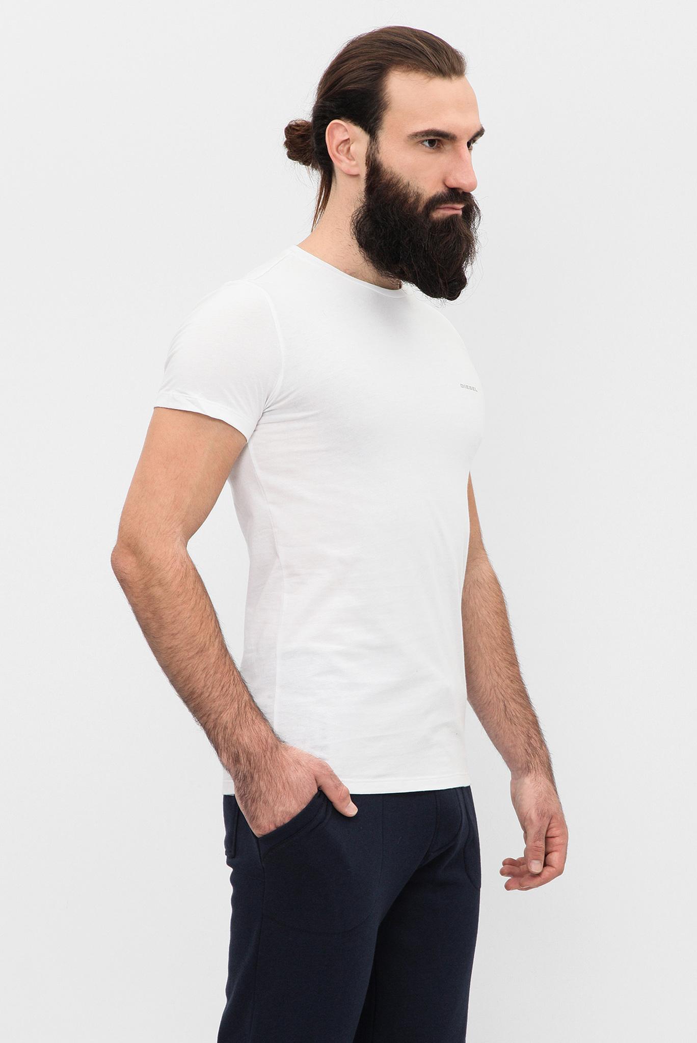 Мужская белая футболка (3 шт) Diesel