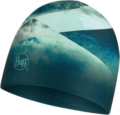 Тонкая теплая спортивная шапка Buff Hat Thermonet Ethereal Aqua фото 1