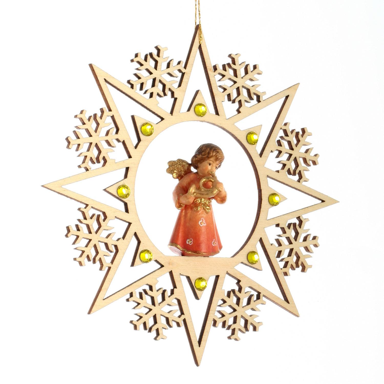 Ангел с горном со стразами Сваровски