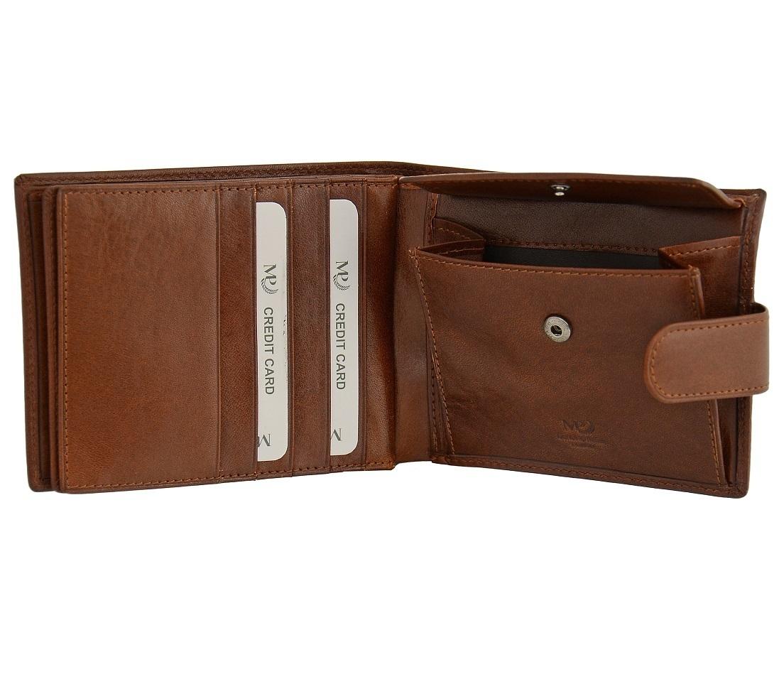 B120218R Cognac - Портмоне MP с RFID защитой