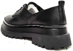 Женские закрытые туфли на низком каблуке Marani magli M-237-06-18 Black.