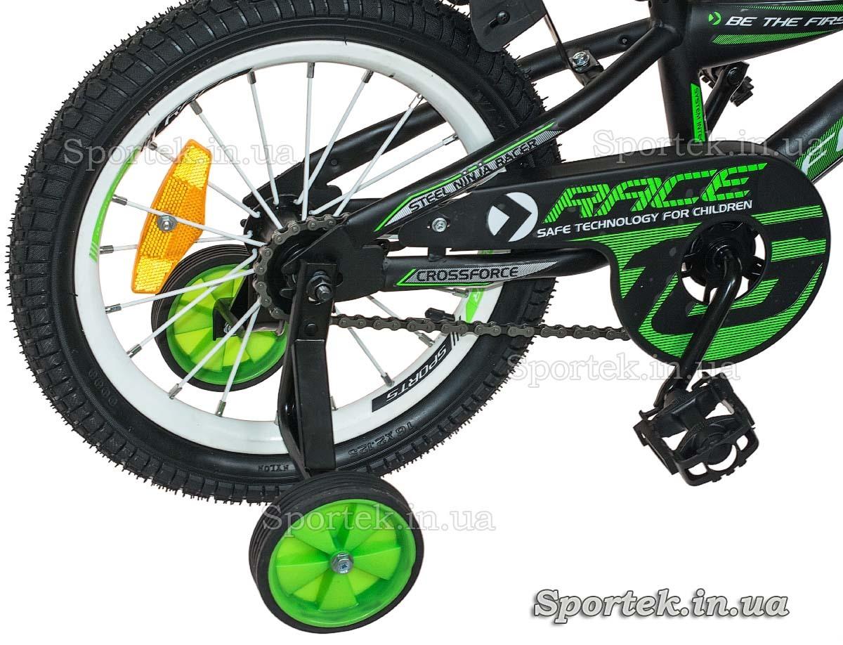 Трансмиссия и педаль детского 4-х колесного велосипеда Formula Race (Формула Рейс)