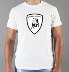 Футболка с принтом Ламборджини, Ламборгини (Lamborghini) белая 0015