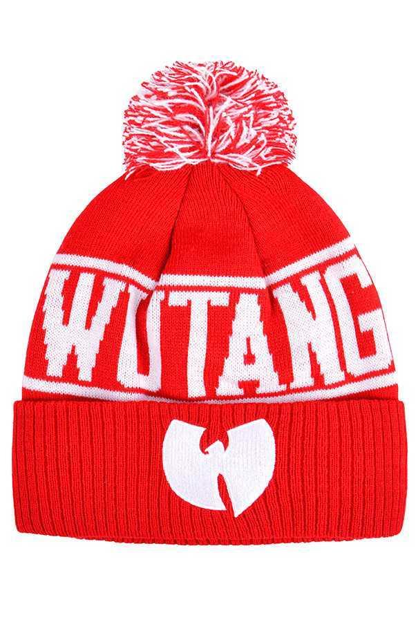 Шапка Wu-Tang красная фото