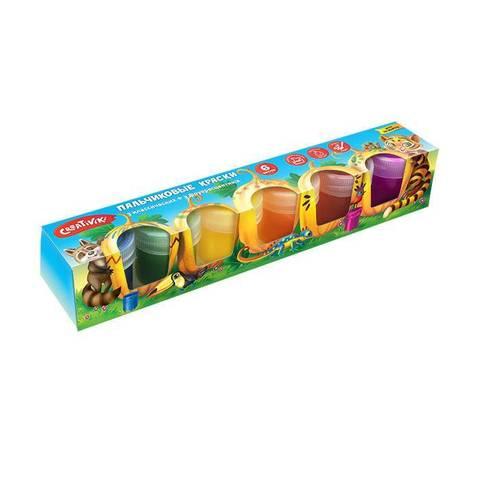 Краски пальчиковые Creativiki 40 мл 6 цв.( 3 станд.+3 флуор.) 3+