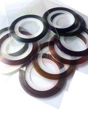 Металлические цветные нити на клеевой основе