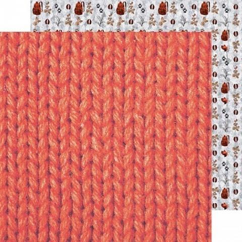Бумага для скрапбукинга Теплый свитер