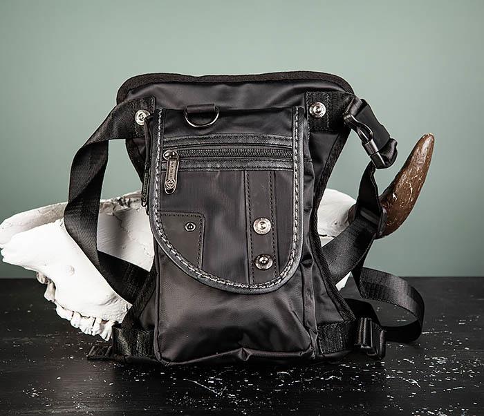 BAG397-1 Набедренная сумка черного цвета из ткани «Оксфорд»