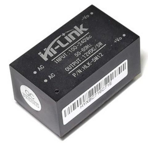 Модуль питания HLK-5M12 AC/DC 12VDC/5W