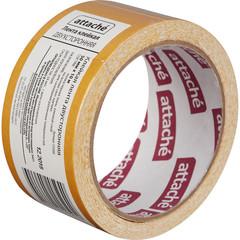Скотч клейкая лента двусторонняя монтажная Attache на тканевой основе 50 мм х 10 м