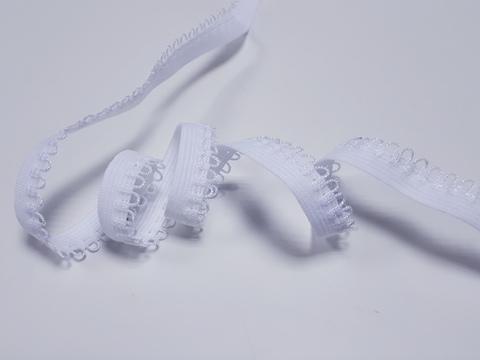 _Ажурная резинка, 11мм, белая, м