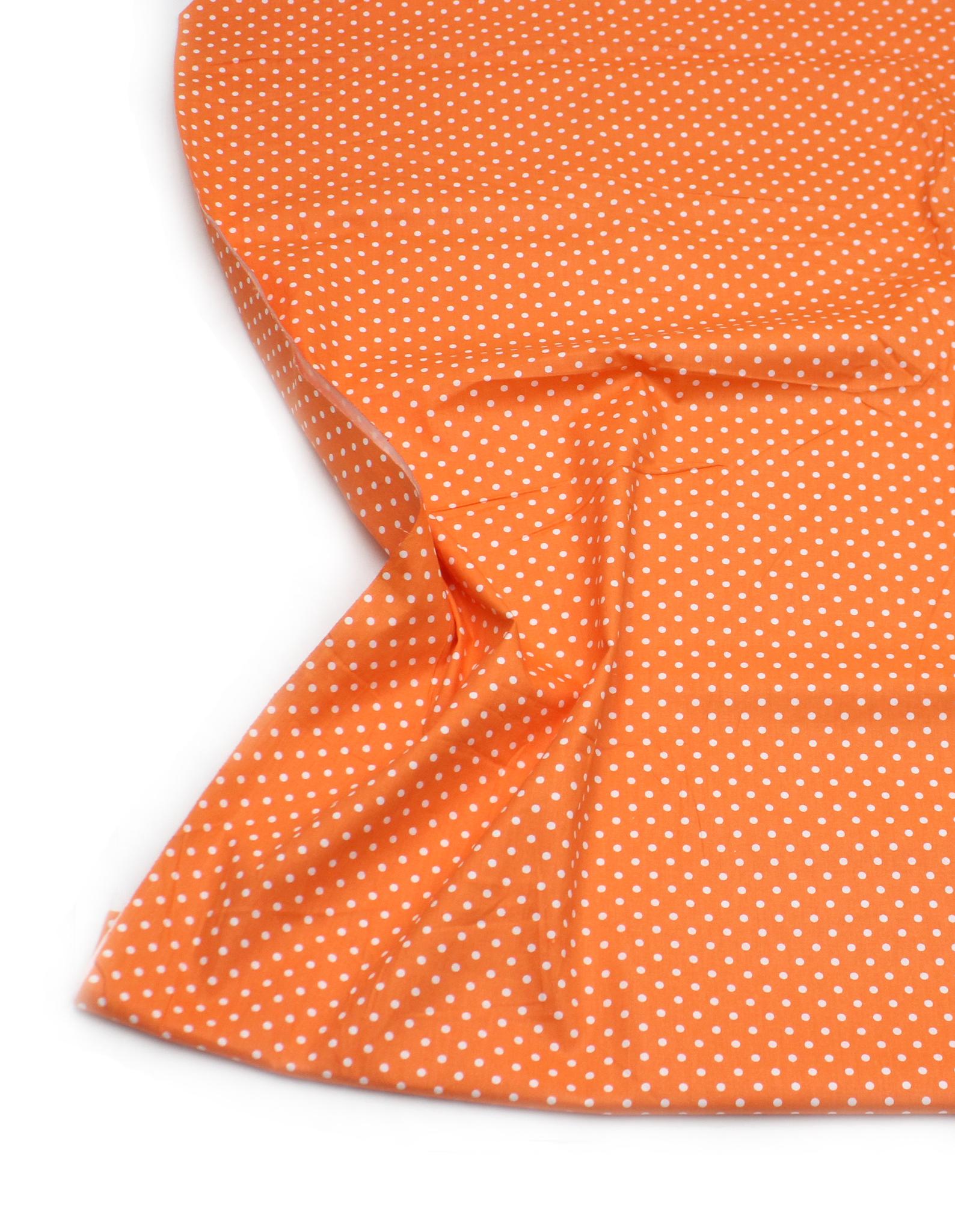 Горошек белый на оранжевом