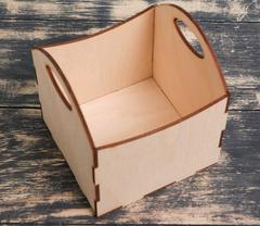 Ящик-кашпо с ручками, 11*11*9 см, 1 шт.