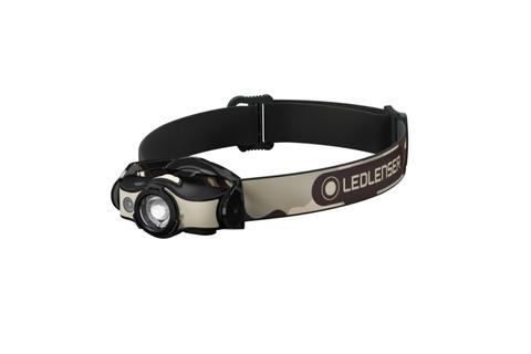 Фонарь светодиодный налобный LED Lenser MH4, черно-песочный, 200 лм, аккумулятор