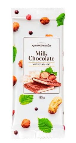 Шоколад молочный с ореховой нугой