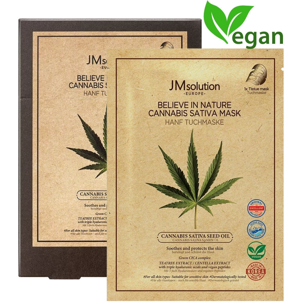 EUROPE BELIEVE IN NATURE CANNABIS SATIVA SEED OIL MASK