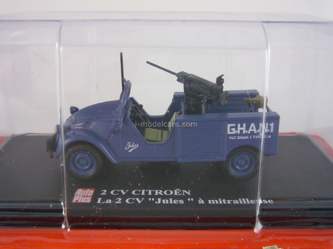 Citroen 2CV Jules with Machine gun Altaya 1:43
