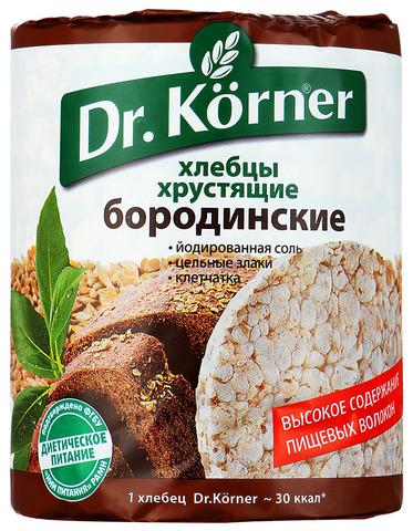 """Хлебцы """"Dr. Korner"""" бородинские 100г"""