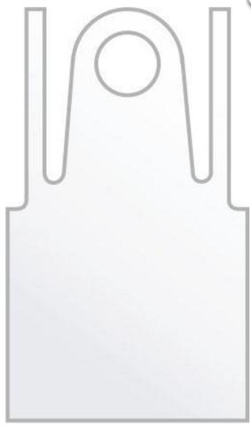 Фартук полиэтиленовый прозрачный 120х70 см 25 шт/упк