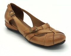 Туфли рыжие открытые на платформе