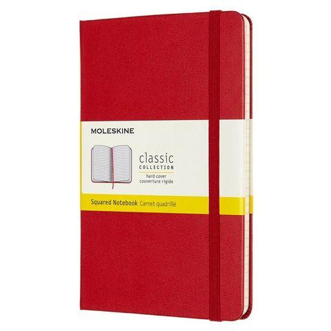 Блокнот Moleskine CLASSIC QP051F2 Medium 115x180мм 240стр. клетка твердая обложка красный