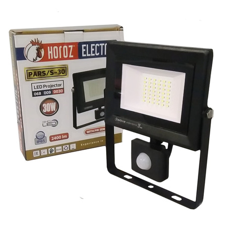 Светодиодный прожектор Horoz Electric - PARS/S - 30 6400K Черный.