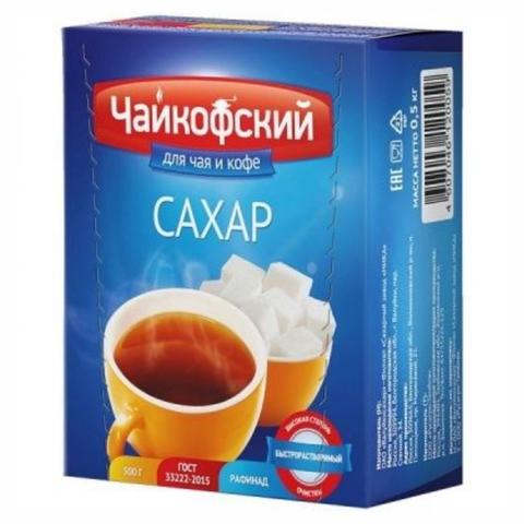 Сахар РУСАГРО ГОСТ Чайкофский кусковой 0,50 кг РОССИЯ