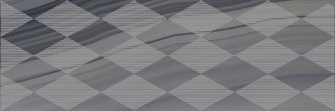 Декор Agat Geo серый 20x60