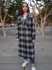 Черное осеннее женское пальто nadya