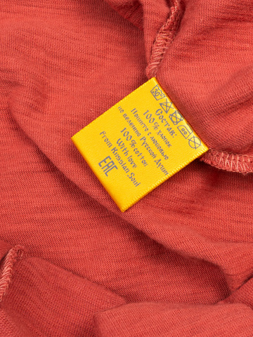 Женская футболка «Великоросс» терракотового цвета