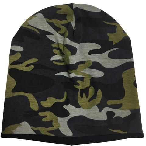 Принт Камуфляж - шапочка бини