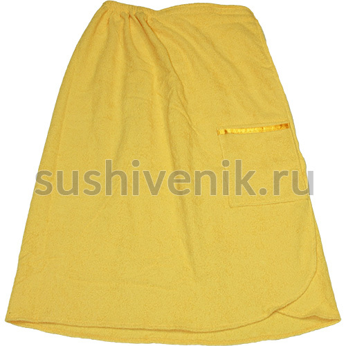 Парео женское махровое (желтое)
