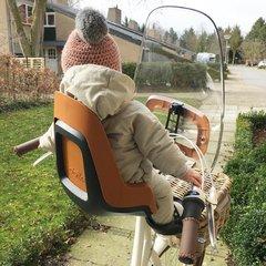 Переднее велокресло с ветровым стеклом Bobike ONE mini urban grey - 2