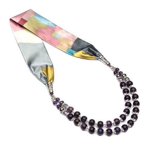 Ожерелье с аметистом