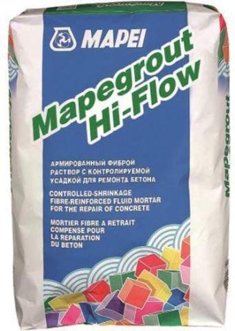 Mapei Mapegrout Hi-Flow 10/Мапей Мапеграут Хай-Флоу 10 ремонтная смесь наливного типа для ремонта бетонных и железобетонных конструкций