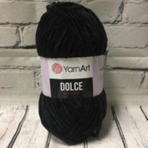 Пряжа Dolce YarnArt - (742 - Черный)