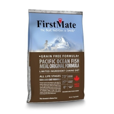 FirstMate Pacific Ocean Fish Meal Original сухой беззерновой корм для взрослых собак всех пород с рыбой 20 кг.