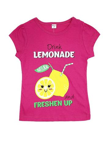D002-35 футболка для девочек, малиновая