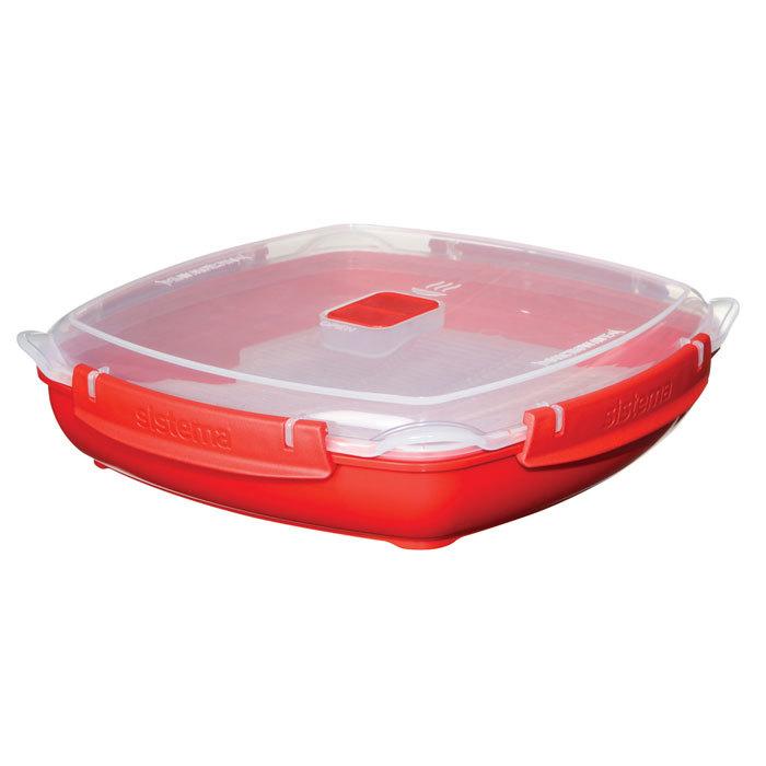 """Тарелка для разогрева в СВЧ Sistema """"Microwave"""" 1,3 л"""