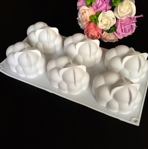 Силиконовая форма для выпечки пирожных МОЛЕКУЛА 6в1 (10х7см h-6см)