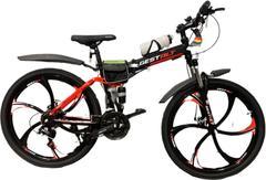 Велосипед Gestalt G-555 литые диски Черно-красный